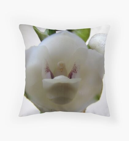Dove Orchid Throw Pillow