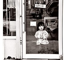Girl in the Window - Rural Japan Photographic Print