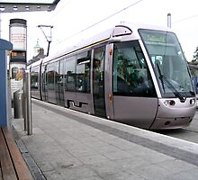 Luas tram in Dublin by Shiju Sugunan