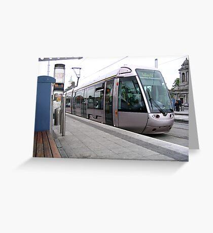 Luas tram in Dublin Greeting Card