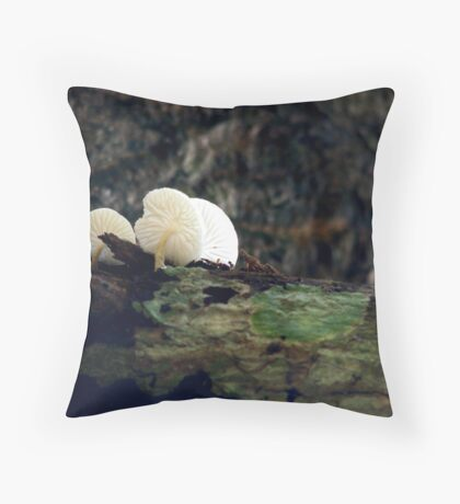 Mushrooms - Umbrella for the ants. Throw Pillow