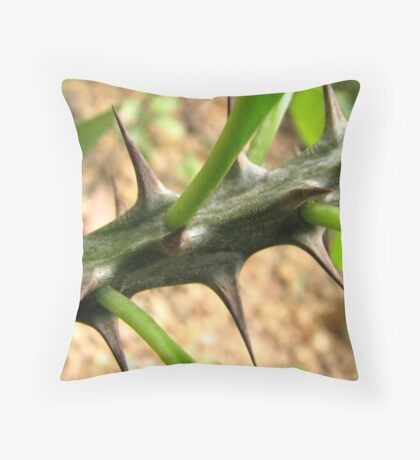 Thorns on a plant Throw Pillow