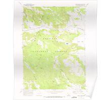 USGS Topo Map Oregon Horse Prairie 280243 1968 24000 Poster