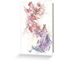 Flight of Bats Greeting Card