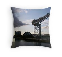 River Clyde, Glasgow Throw Pillow