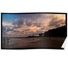 seascapes - sunset at tarkarli beach, konkan, india Poster