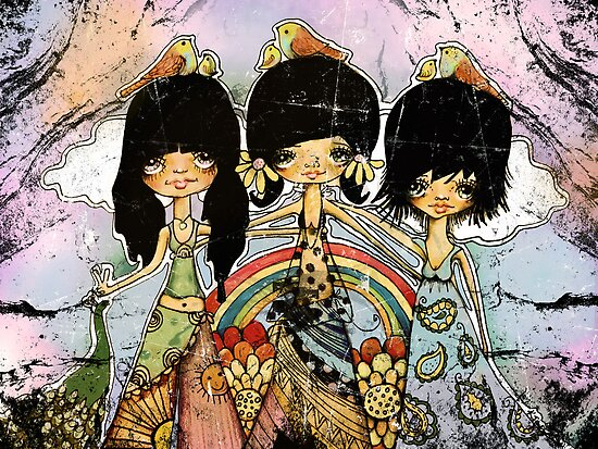 hippy chicks by © Karin  Taylor