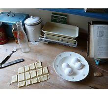 Biscuits then back Photographic Print