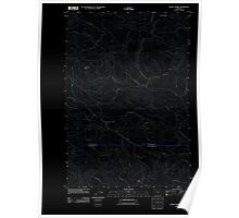 USGS Topo Map Oregon Sunset Spring 20110907 TM Inverted Poster