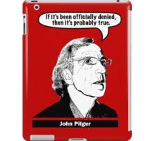 John Pilger iPad Case/Skin