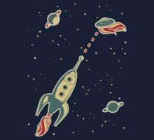 retro spaceship Kids Clothes