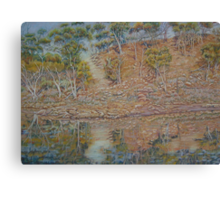 Coblinine river reflections - Dumbleyung Canvas Print