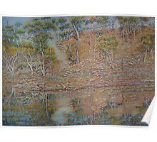 Coblinine river reflections - Dumbleyung Poster