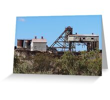 Junction Mine, Broken Hill, NSW  Greeting Card