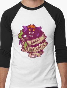 Monster and old ribbon for Halloween Men's Baseball ¾ T-Shirt