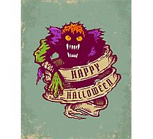 Monster and old ribbon for Halloween Photographic Print