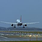 A320 Landing by Mark  Lucey