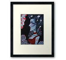 Red Queen Hearts Alice in Wonderland Art  Framed Print