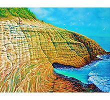 Spitting Caves of Portlock Point Photographic Print
