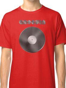 Groovin - Vinyl LP Record & Text - Metallic - Steel Classic T-Shirt