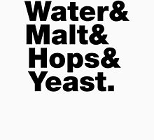 Beer = Water & Malt & Hops & Yeast. Womens Fitted T-Shirt