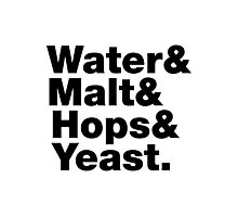 Beer = Water & Malt & Hops & Yeast. Photographic Print