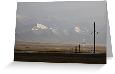 Pamirs at dusk by Gillian Anderson LAPS, AFIAP