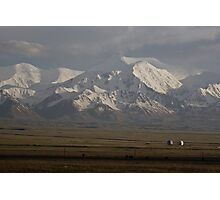 Pamirs at dusk, Sary Tash Photographic Print