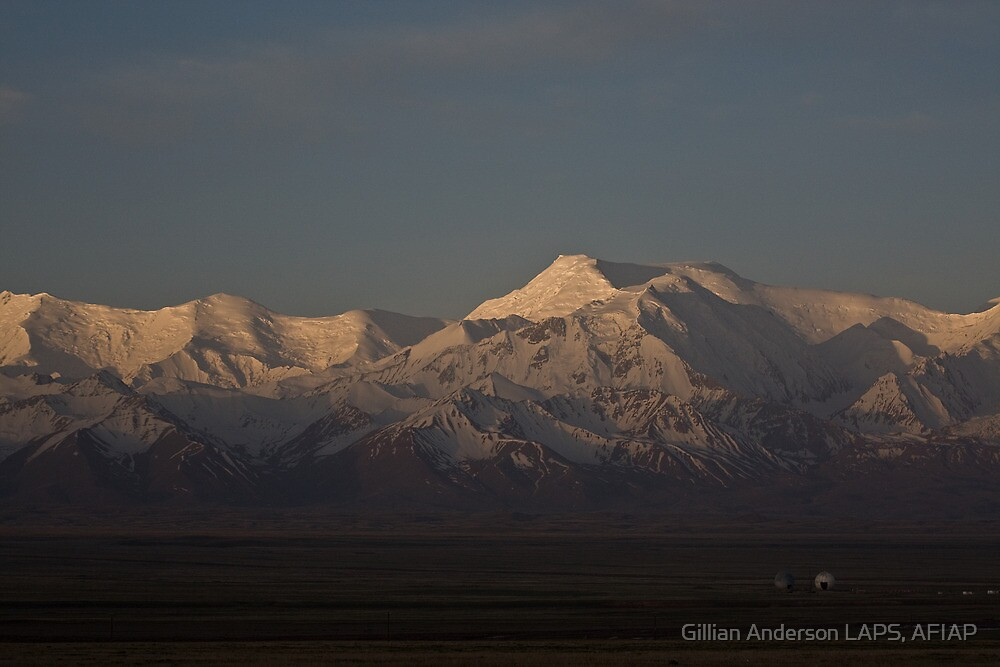 Dawn on the Pamirs at Sary Tash by Gillian Anderson LAPS, AFIAP