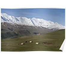 Pamirs near Sary Tash Poster
