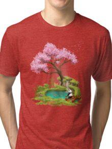 Anjing II  - The Zen garden Tri-blend T-Shirt