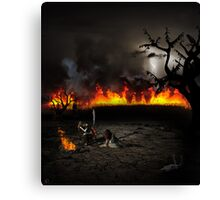 Even Death Itself Had Passed Them Over Canvas Print