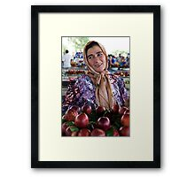 Nectarine Lady, Margilon Framed Print