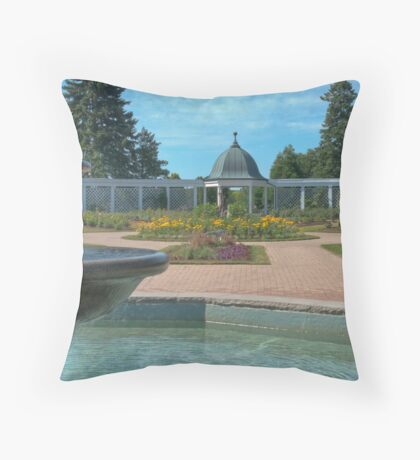 Niagara Parkway Gardens Throw Pillow