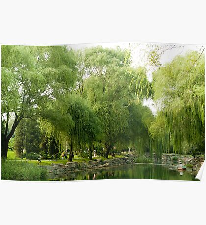 Beijing Summer Palace - Willow Trees Poster