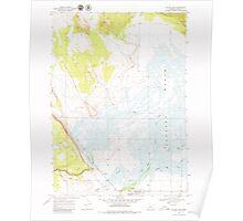 USGS Topo Map Oregon Silver Lake 281509 1968 24000 Poster