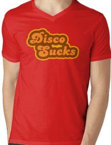 Disco Sucks - Retro 70s - Logo Mens V-Neck T-Shirt