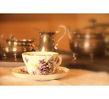 Cup&Saucer detail, Wimpole hall uk. Photographic Print