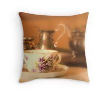 Cup&Saucer detail, Wimpole hall uk. Throw Pillow