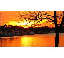 Tidewater Sunset Photographic Print