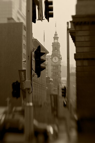 General Post Office Clock Tower - Sydney - Australia by Bryan Freeman