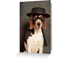 Even Zorro needs a best friend Greeting Card