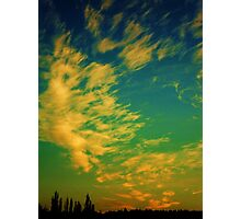 adrift in a november sky   Photographic Print