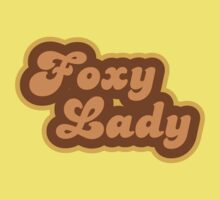 Foxy Lady - Retro 70s - Logo Kids Tee