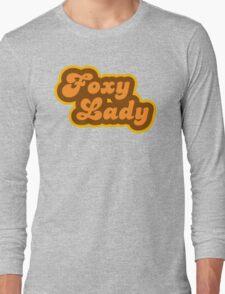 Foxy Lady - Retro 70s - Logo Long Sleeve T-Shirt