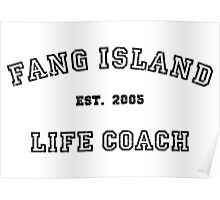 Fang Island - Life Coach (Black) Poster