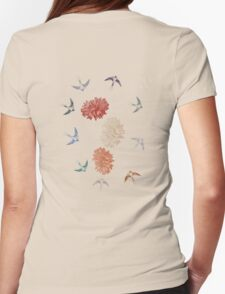 Flower Swallows T-Shirt T-Shirt