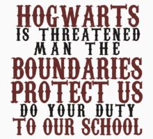 Hogwarts in Threatened Kids Clothes