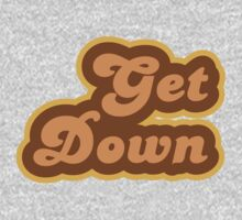 Get Down - Retro 70s - Logo One Piece - Long Sleeve