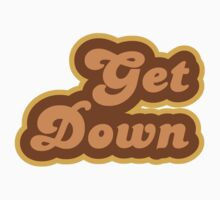 Get Down - Retro 70s - Logo One Piece - Long Sleeve